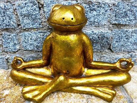 golden frog yoga pose